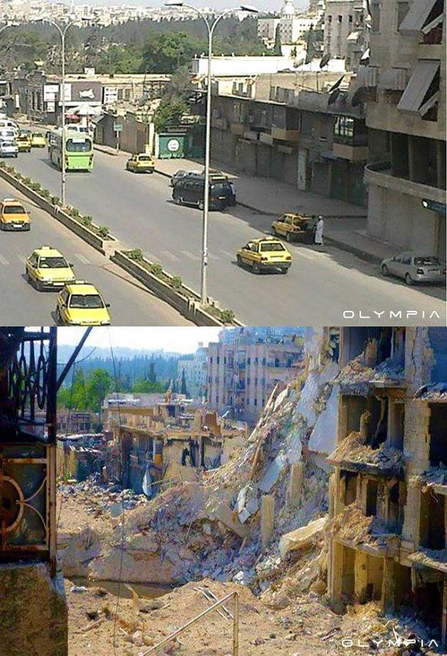 26 imágenes de Siria antes y después de la guerra!